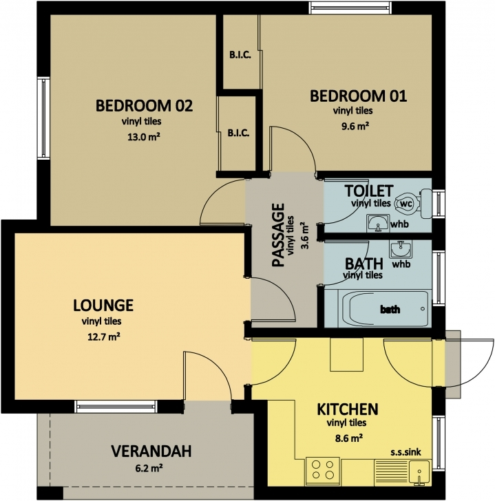 Picture of Type 59 | Bhc 3 Bed Room Floor House Plans In Jwaneng Image