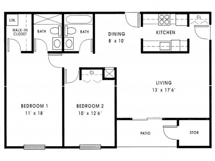 Popular 1000 Sq Ft House Plans 3 Bedroom — House Style And Plans 1000 Sq Ft House Plans 3 Bedroom Pic