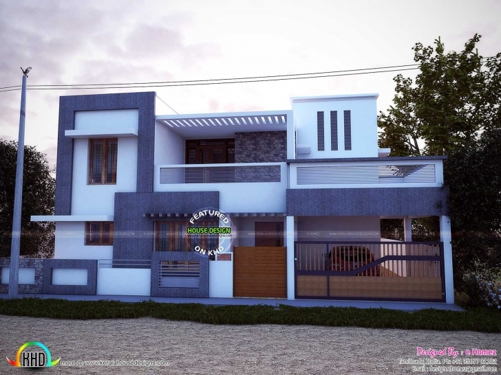 Popular Beautiful Front Elevation Of Single Floor House Kerala Including House Front Elevation Designs For Single Floor East Facing Pic