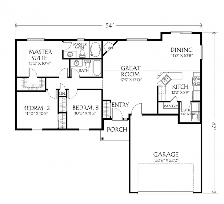 Popular Bedroom House Plans One Story Vibrant Idea Tiny Houseplans ~ Copacnevada Simple One Story 3 Bedroom House Plans Pic