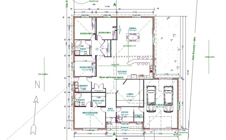 Popular Cad Drawing House Plans Trendy 8 With Autocad Floor Plan In 2 - Tiny Autocad Plan 2D Top Image