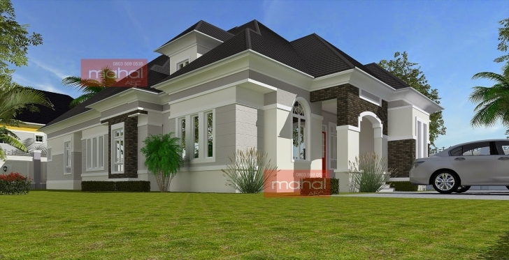 Popular Contemporary Nigerian Residential Architecture 3 Bedroom Bungalow With Pent House In Nigeria Image