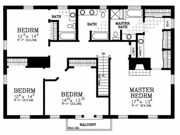 Popular House Plan 4 Bedroom House Floor Plans Home Design Ideas Simple Building Plans For 4 Bedroom House Photo