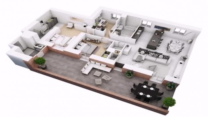 Remarkable 3 Bedroom House Plans On Half Plot Of Land - Youtube 3Bedroom House Design On A Plot Of Land Picture