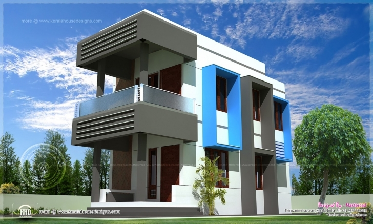 Remarkable Contemporary Compact Villa Design | Home Kerala Plans 100 Square Yard House Picture