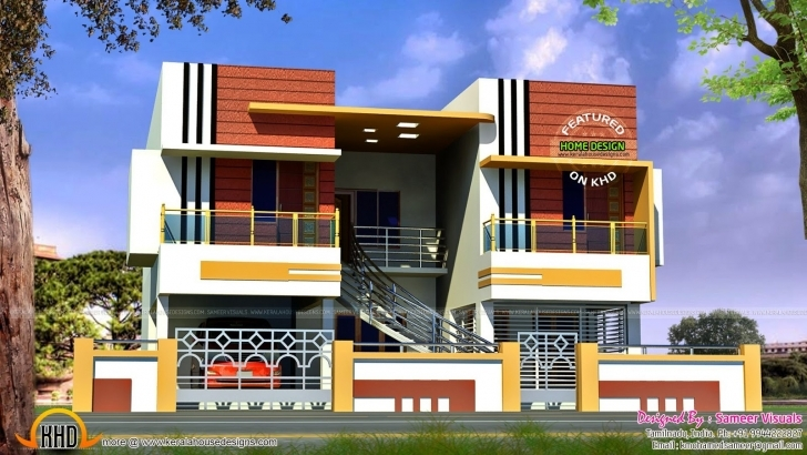 Remarkable Front Elevation North Indian House   The Base Wallpaper Front Elevation Of Indian House 30X50 Site Single Floor Photo