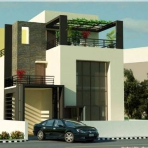 Front Elevation Of Indian House 30X50 Site Ground Floor