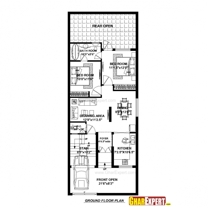 Remarkable House Plan For 23 Feet By 60 Feet Plot (Plot Size 153 Square Yards 24/60 Ghar Images Picture