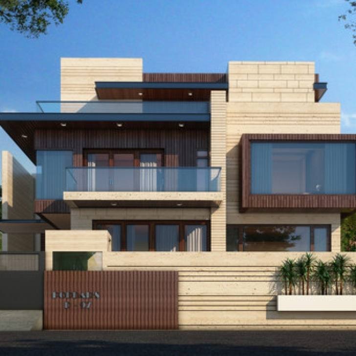 Remarkable Latest House Elevation Design By Gharbanavo – Ghar Banavo Gharelevation One Manzzile Picture