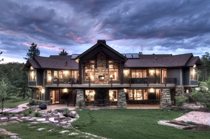 Remarkable Mountain House Plans Ideas Small With Walkout Basement Home Detached Luxury Rustic Mountain Home Plans Image