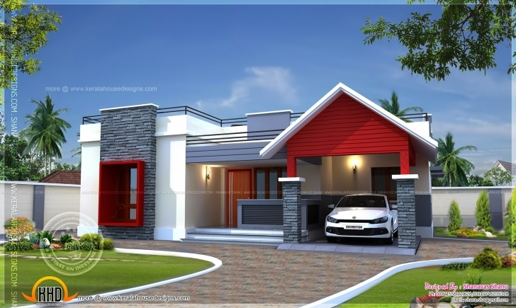 Remarkable Single Floor Home Plan Square Feet Indian House Plans - Building Modern Single Floor House Front Design Picture
