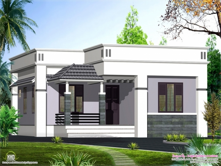 Splendid Breathtaking Simple Modern Home With Floor Style Single Designs Home Elevation Single Floor Modern Photo
