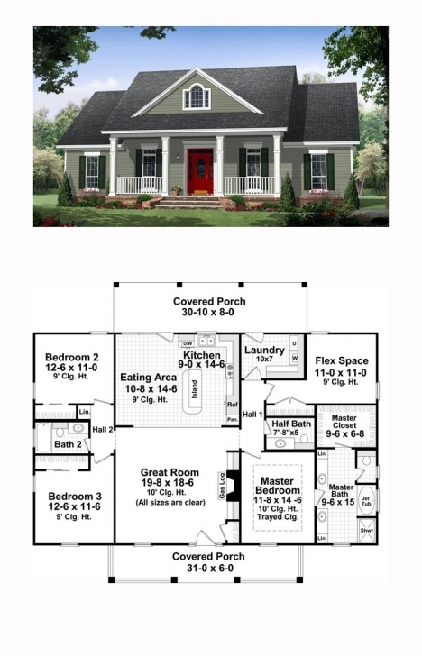 Splendid Colonial Country Traditional House Plan 59952 | Traditional House 4 Bedroom Flat Plan On Half Plot Image