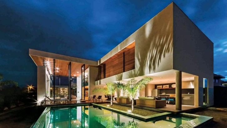 Splendid L Shaped House Plans With Courtyard Pool - Youtube L Shaped House Photo