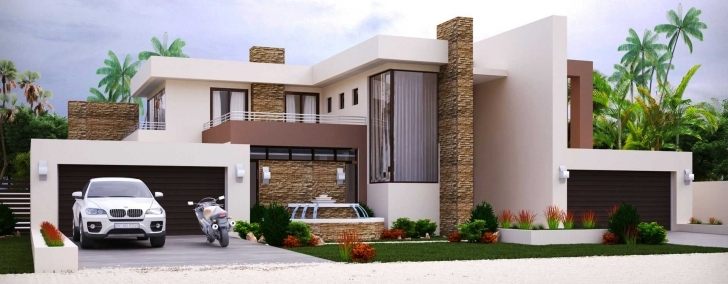 Splendid Modern Style House Plan Bedroom Double Storey Floor Plans Home Double Storey House Plans In South Africa Pic