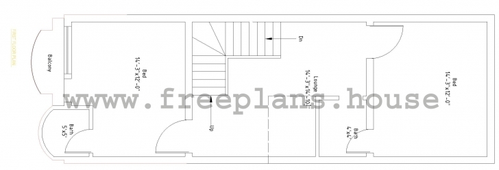 Stunning 15×45 Feet / 62 Square Meters House Plan 15 X 45 Feet House Plans Image