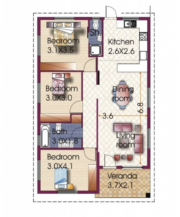 Stunning 3 Bedroom House Design In Philippines 3 Bedroom Bungalow House Three Bedroom Bungalow House Plan Picture