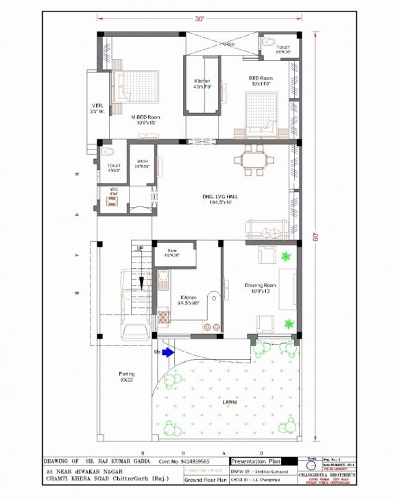 Stunning 30 X 50 Open Floor Plan New Stunning 15 X 30 House Plans India Image 15X30 House Plan Pic