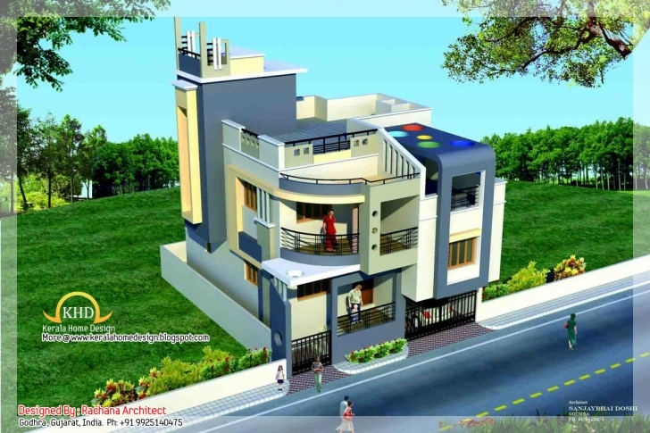 Stunning Duplex House Plan And Elevation - 1770 Sq. Ft. | Home Appliance 25 Feet Front Design Image