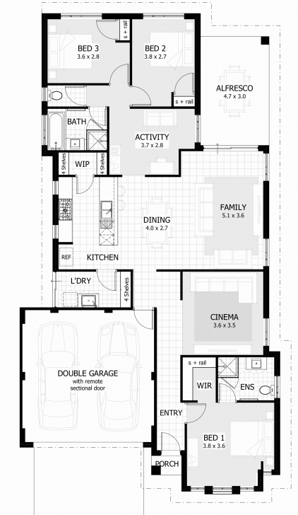 Stunning Elegant Pics 3 Bedroom House Plans With Double Garage - Home Inspiration 3 Bedroom House Plans With A Garage Photo