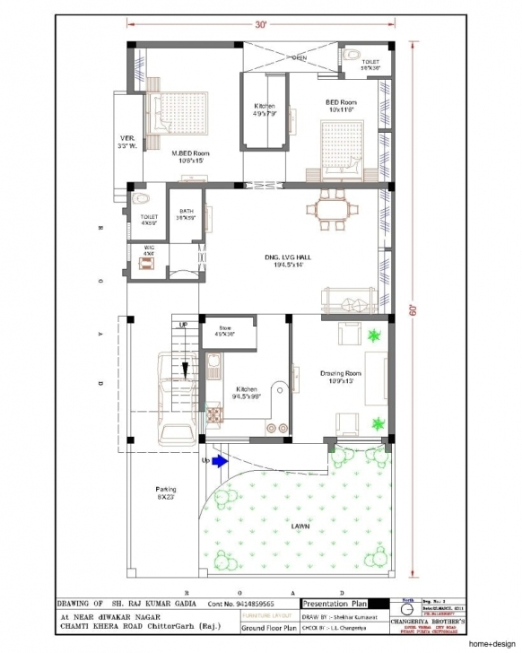 Stunning Home Naksha Fresh On Popular 2060 With 20 X 60 House Plan Design 20 X 60 House Plans India Picture
