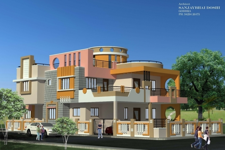 Stunning Indian Home Design Elevation - Home Decor Design Interior Ideas Rachana Architects North Face Elevation Picture