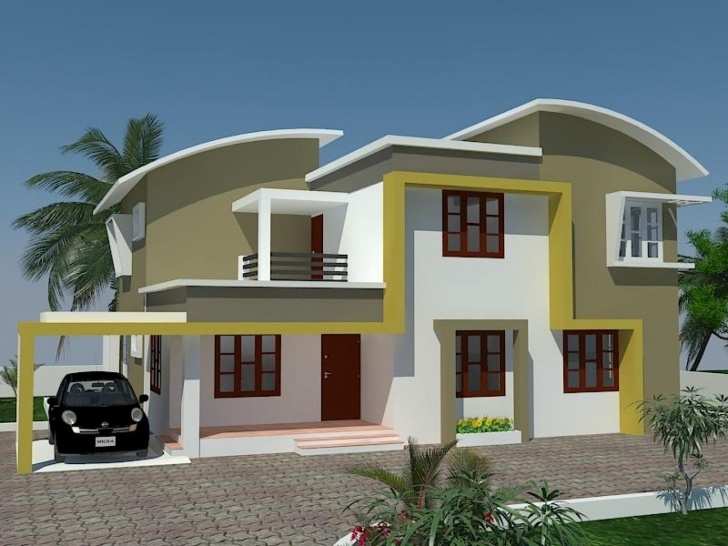 Stunning Modern Exterior Paint Colors For Houses | Exterior Color Kerala Exterior Home Painting Photo