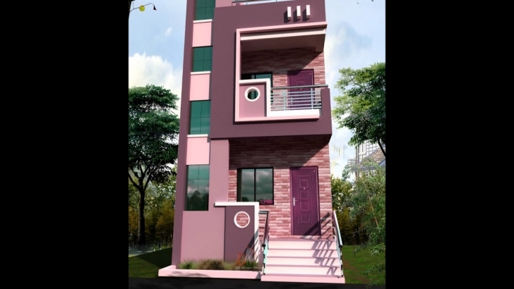 Top 15' Feet Front House Design - Youtube 15 X 50 House Front Elevation Image