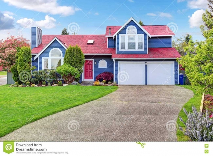 Top Beautiful Curb Appeal With Inspirations Charming Exterior House Painting Of House With Red Roof Pic