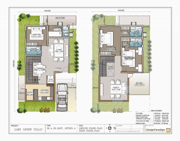 Top Download Duplex House Plans For 30×50 Site East Facing | Adhome 50*30 North Facing House Plans Picture