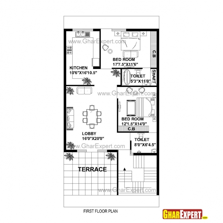 Top Gc 1310 Plan House Plan For 30 Feet By 60 Feet Plot (Plot Size 200 16*54 Size House Map Photo
