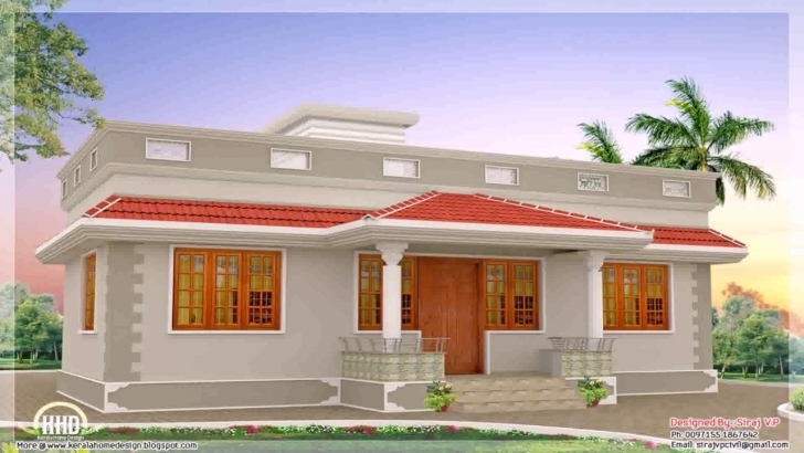 Top Home Architecture: Kerala Style House Plans Within Sq Ft, Inspiring 750Sqft Kerala House Picture