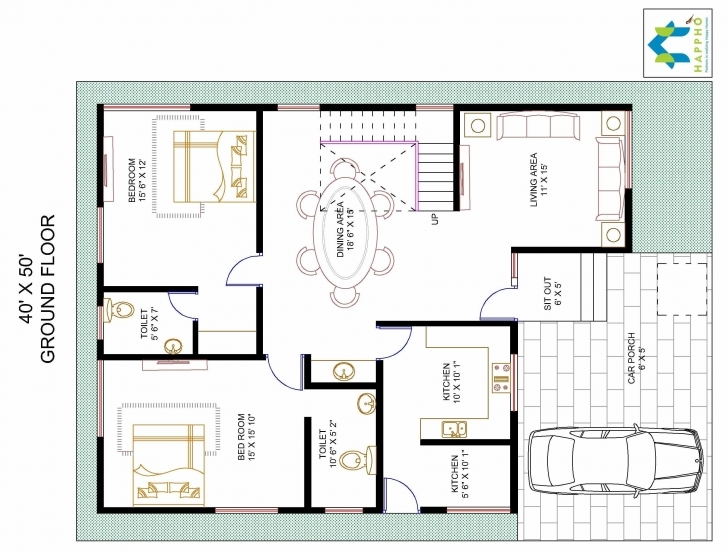 Top House Plan For 40 Feet By50 Plot Size 222 Square Yards Fine X 50 15 X 50 Duplex House Plan Pic