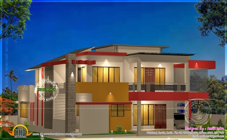 Top Modern 4 Bhk House Plan In 2800 Kerala Home Farmhouse Style Floor Lamps 4 Bedroom Modern House Plans In Kerala Photo