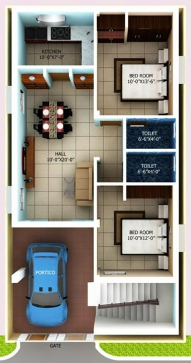 Top N Home Design For Sq Ft House Plans Ideas Gallery Individual Arts 1000 Sq Ft House Plans Indian Style 3D Pic