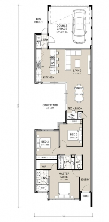 Top Narrow Lot House Plans With Courtyard Garage Unique Category Home Narrow Lot House Plan Picture