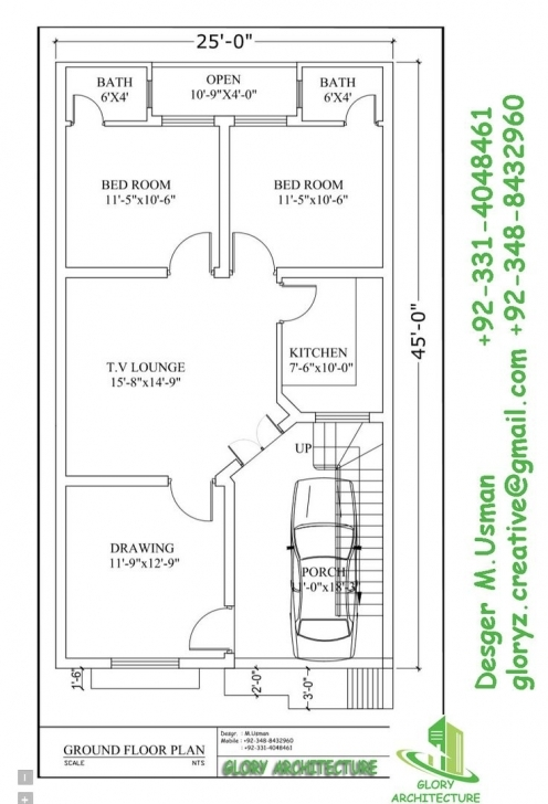 Top Photo of 17 Best 25X45 House Plan Elevation Drawings Map Naksha Images On House Map Design 25*50 Corner Pic
