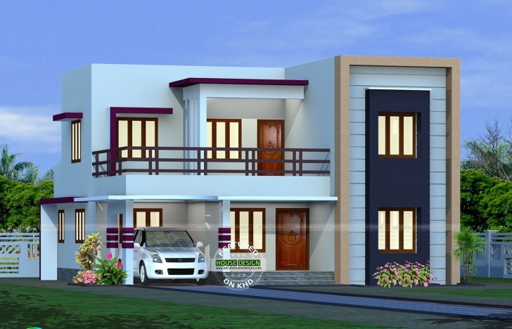 Top Photo of 2082 Sq.ft Flat Roof Home Design - Youtube Designs For Flat Roofed Houses Photo