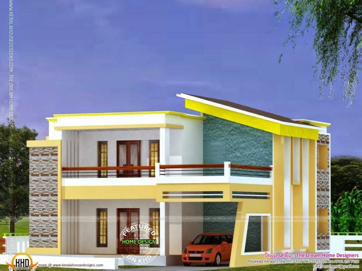 Top Photo of 3D Plans Hd With Elevation Ideas Flat Roof House Plan And Trends Insurance For Flat Roofed Houses Image