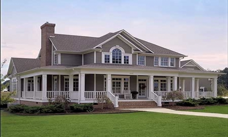 Top Photo of Amazing Brick Home Plans With Wrap Around Porch — Simple House Plans Brick House Plans With Porches Photo