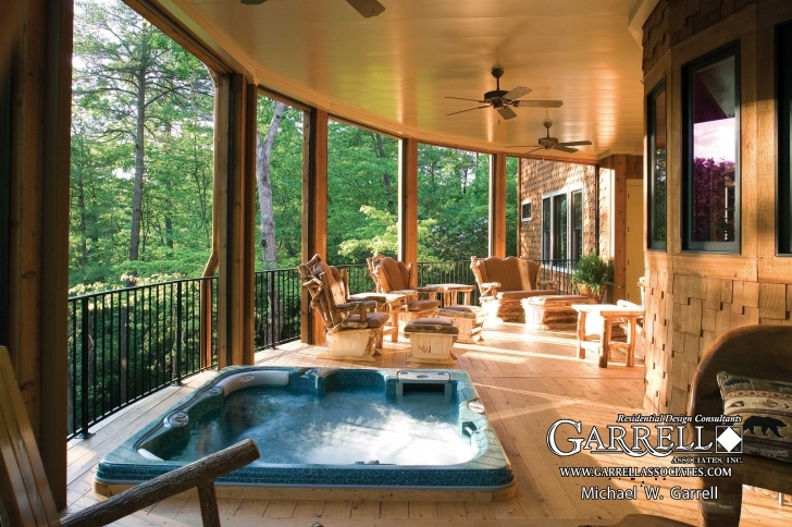 Top Photo of Amicalola Cottage - Rustic Style House Plan Luxury Mountain Ranch Home Plans Pic