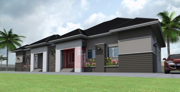 Top Photo of Contemporary Nigerian Residential Architecture: 3 Bedroom Semi Nigerian Architectural 3Bedroom Floor Plan Image