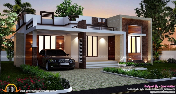 Top Photo of Designs Homes Design Single Story Flat Roof House Plans Inspiration Kerala Small Homes Photo Gallery Picture