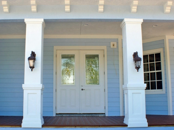 Top Photo of Front Porch Columns Highlight Before - House Plans   #29396 Front House Square Pillar Designs Image