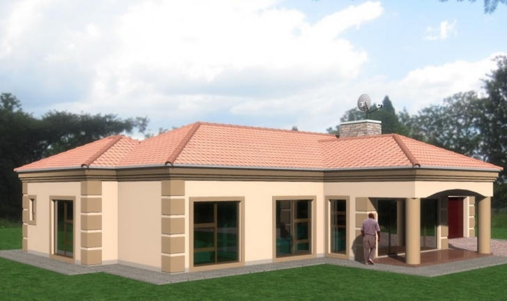 Top Photo of Home Architecture: Charming Small Tuscan Style House Plans With Tuscan House Plans Image
