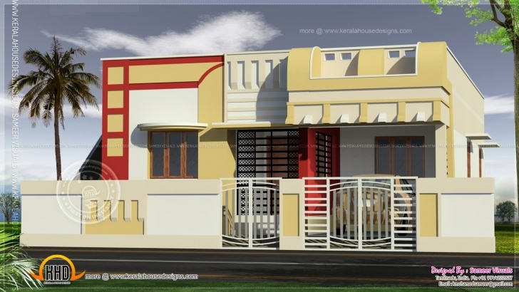 Top Photo of Home Architecture: Indian Style Home Plan And Elevation Design Single Floor House Front Elevation Design In India Pic