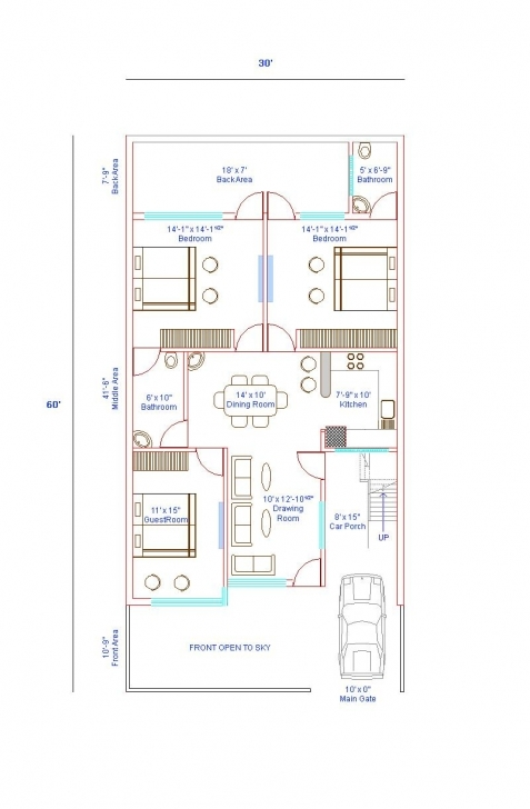 Top Photo of Home Plan 30 X 60 Fresh X House Plans Islamabad East Facing With 15×60 House Plan Image