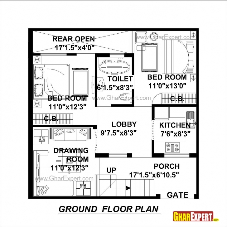 Top Photo of House Plan For 30 Feet By 30 Feet Plot (Plot Size 100 Square Yards 100 Square Yard House Plans Pic