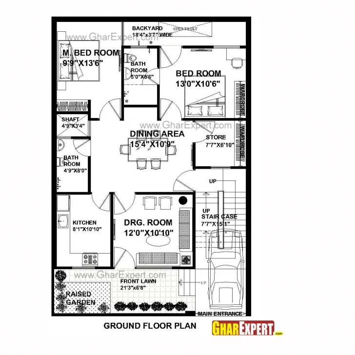Top Photo of House Plan For 30 Feet By 45 Feet Plot (Plot Size 150 Square Yards House Plan For 30 Feet By 45 Feet Plot Plot Size 150 Square Yards Image