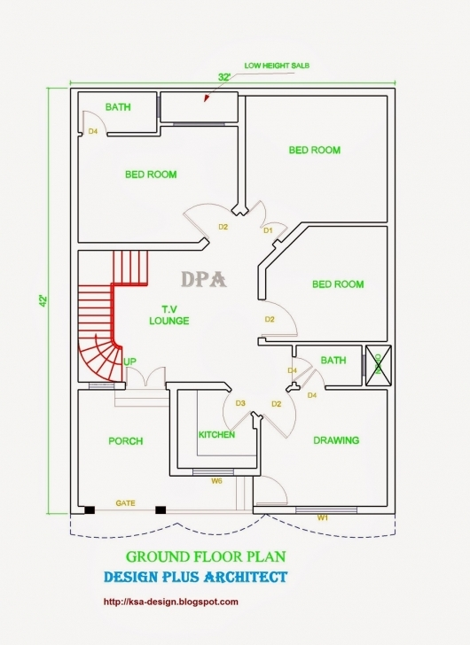 Top Photo of Inspirations: Marla Very Modern House Plans Including 2017 With Map Map Of House 53*53 Picture